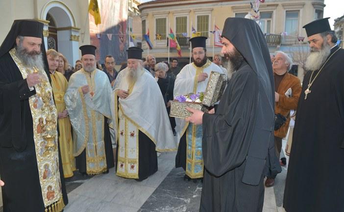 Η υποδοχή της Τιμίας Κάρας του Αγίου Παρθενίου στην Ευαγγελίστρια Πειραιώς